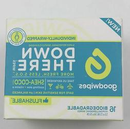 Goodwipes Down There 16 Individually Wrapped Wipes Shea-Coco