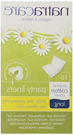 Natracare Panty Liners Long, 16 Count